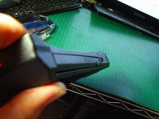 ウルトラベースX200用の純正互換HDDアダプタ。結構いい感じにはまる