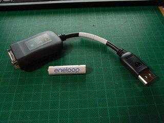 Lenovo純正DisplayPoret-DVI変換ケーブル