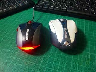 Bluetooth Notebook Mouse 5000とNoteBook Optical Mounse 3000比較