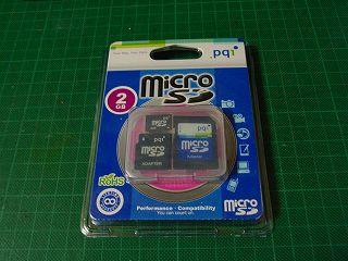PQIのMicroSD 2Gパッケージ