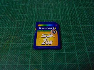 トランセンドのSDカード2G、x150